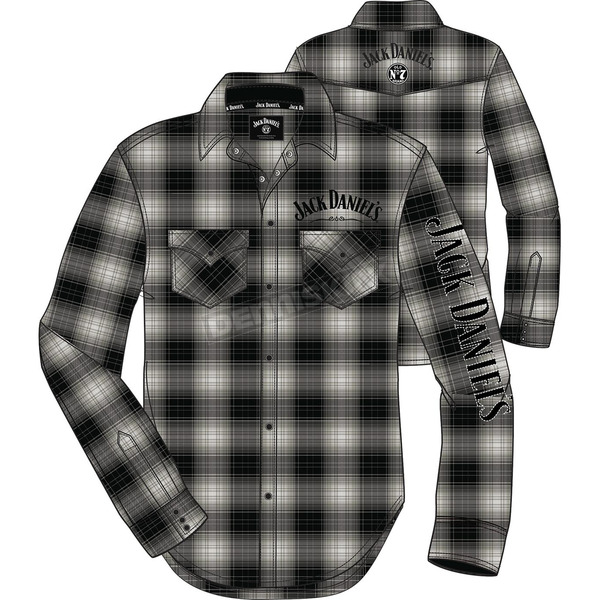 Jack Daniels Gray Woven Snap-Front Long Sleeve Shirt - 15203983JD-89-M