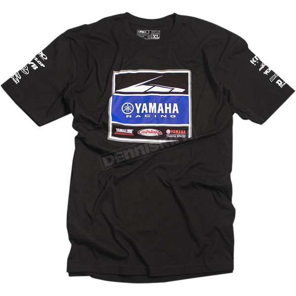 Factory Effex Black Yamaha Racing Team T-Shirt - 20-87224