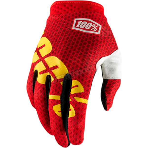 100% Fire Red I-Track Gloves - 10002-067-10