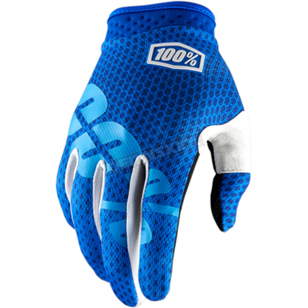 100% Youth Blue I-Track Gloves - 10002-079-04