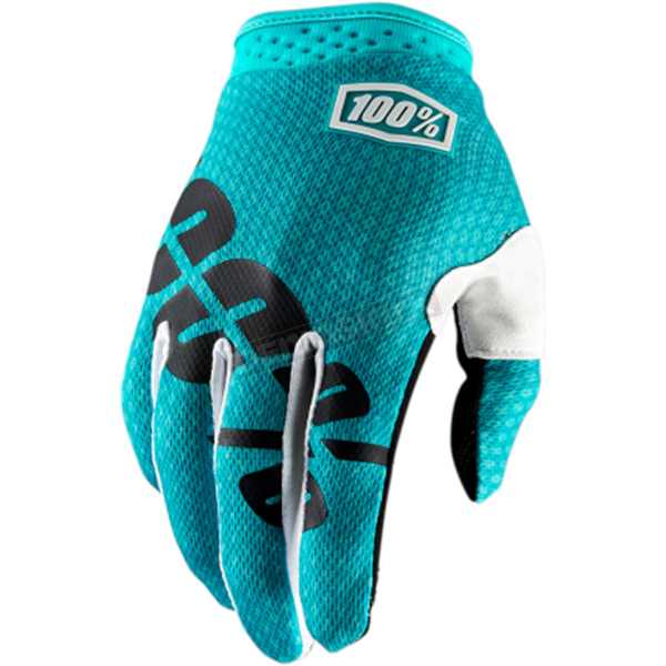 100% Youth Teal I-Track Gloves - 10002-171-05