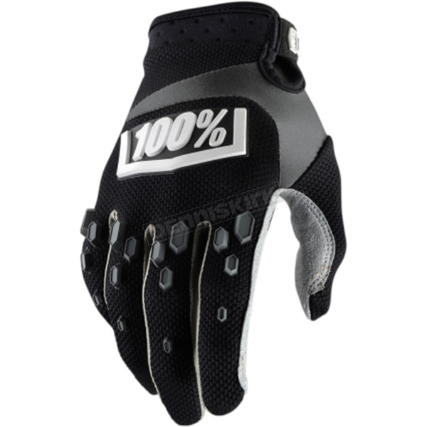 100% Black Airmatic Gloves - 10004-061-14