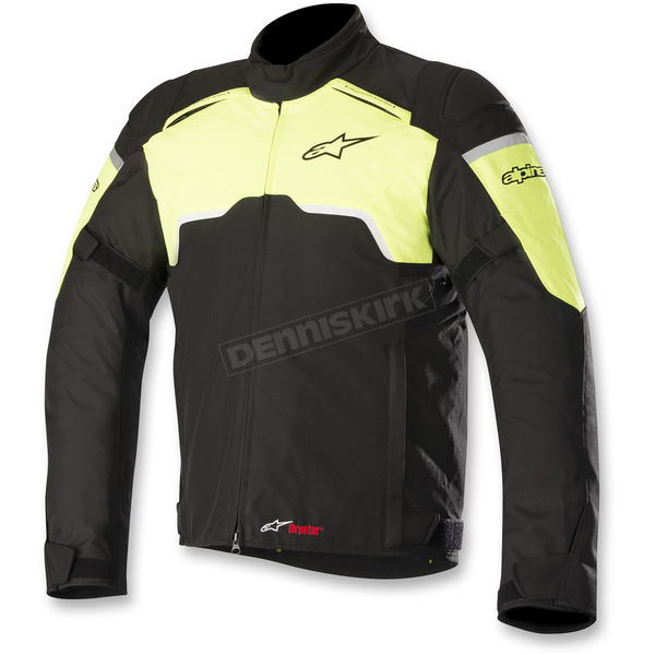 Alpinestars Black/Flo Yellow Hyper Drystar Jacket - 3204718-155-4X