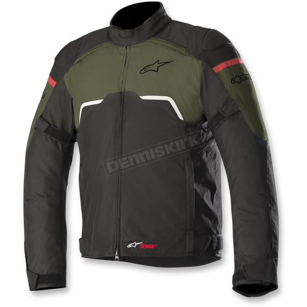Alpinestars Black/Military Green Hyper Drystar Jacket - 3204718-1608-5X