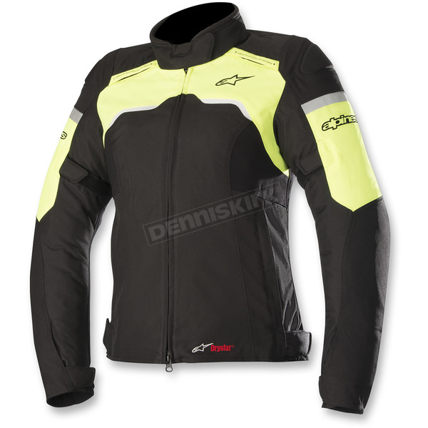 Alpinestars Women's Black/Flo Yellow  Stella Hyper Drystar Jacket - 3214718-155-XL