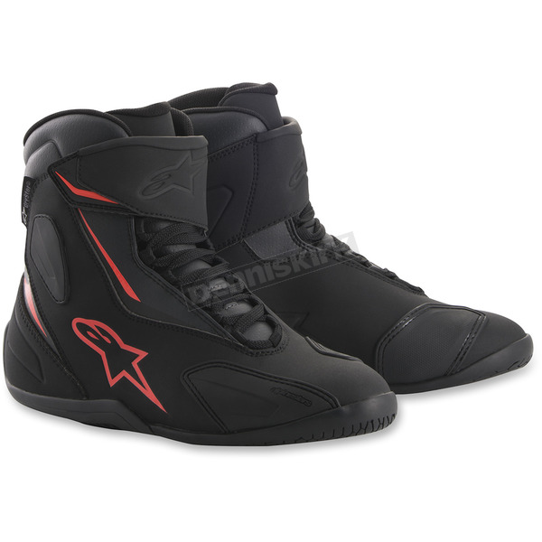 Alpinestars Black/Anthracite/Red Fastback 2 Drystar Shoes - 2510018103612