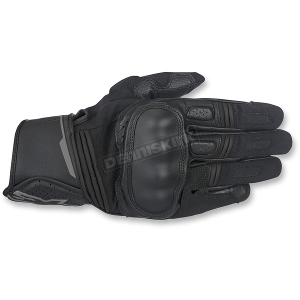 Alpinestars Black/Anthracite Booster Leather Gloves - 3566917-104-S