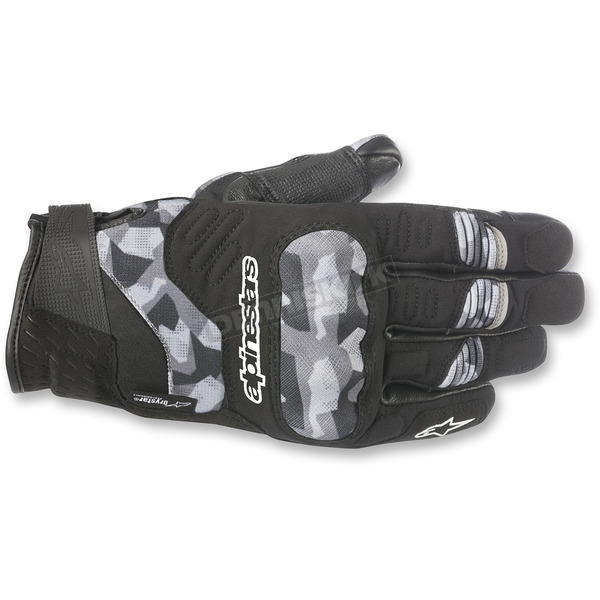 Alpinestars Black Camo C-30 Drystar Gloves - 3528918-990-2X