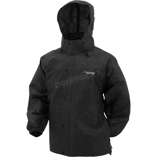 Frogg Toggs Black Pro Action Advantage Rain Jacket - PA63123-01SM