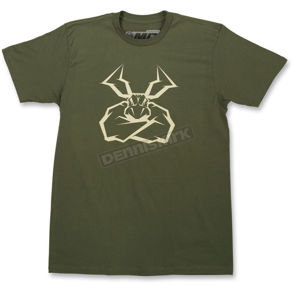Moose Olive Green Agroid T-Shirt - 3030-15896