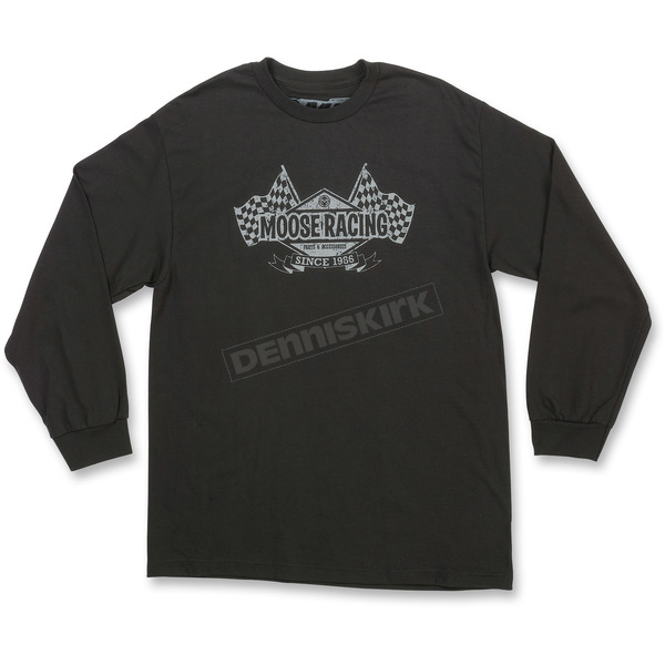 Moose Black Podium Long-Sleeve T-Shirt - 3030-15917