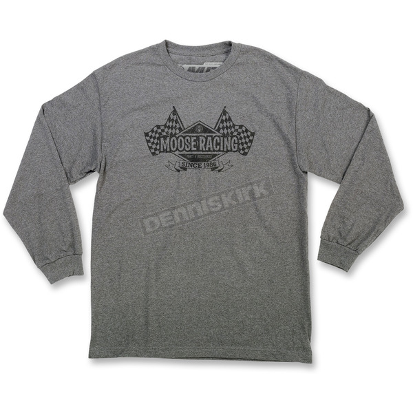 Moose Gray Podium Long-Sleeve T-Shirt - 3030-15920