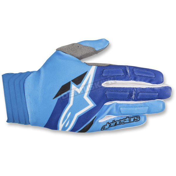 Alpinestars Blue/Aqua Aviator Gloves - 3560318-7111-LG