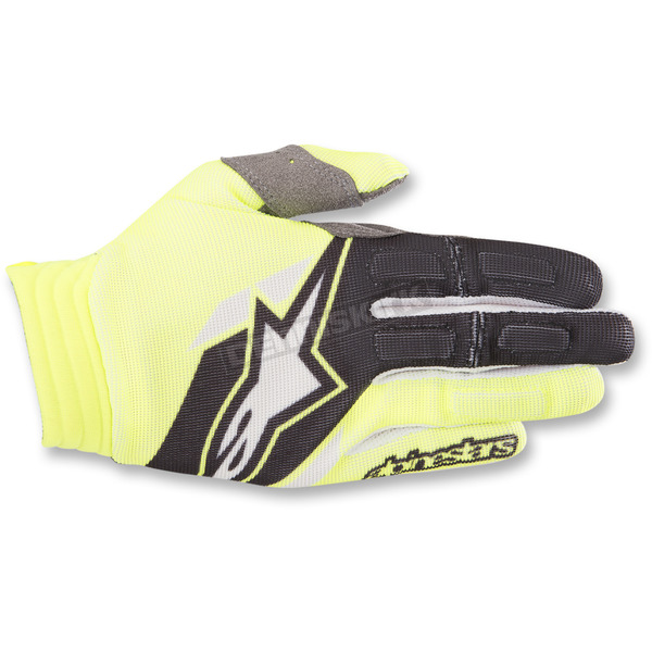 Alpinestars Yellow/Black Aviator Gloves - 3560318-551-LG
