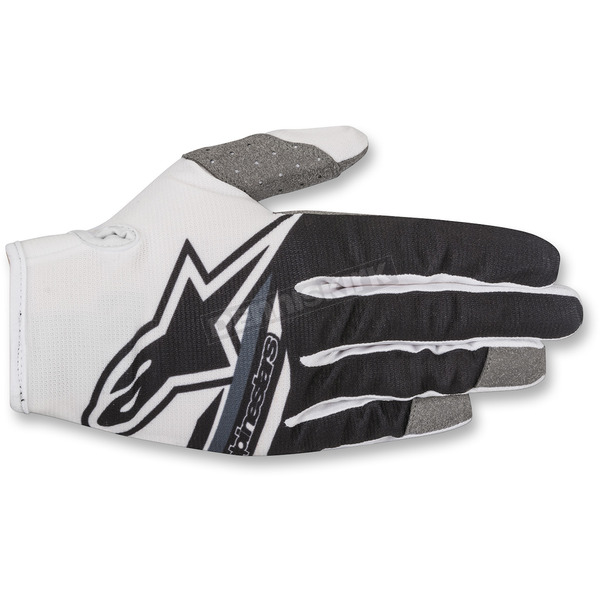 Alpinestars White/Black Radar Flight Gloves - 3561818-21-SM