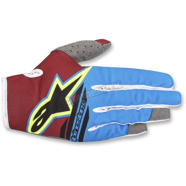 Alpinestars Rio Red/Aqua/Fl.Yellow Radar Flight Gloves - 3561818-3066-LG