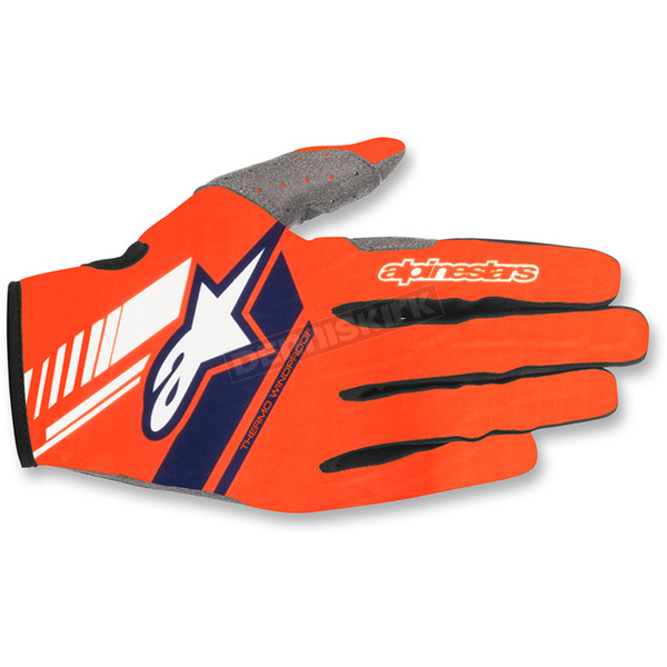 Alpinestars Fluo.Orange/Dark Blue Neo Moto Gloves - 3565518-470-MD