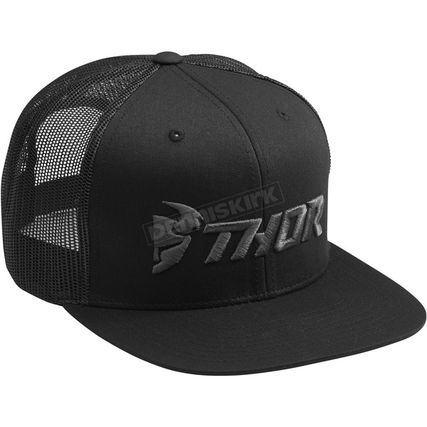 Black/Gray Trucker Snapback Hat - 2501-2763