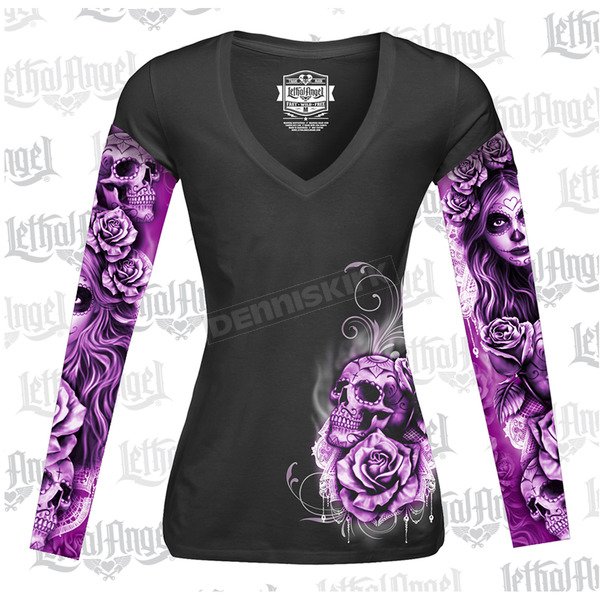 Lethal Threat Womens My Nightmare Tattoo Sleeve Shirt - LT20428XL