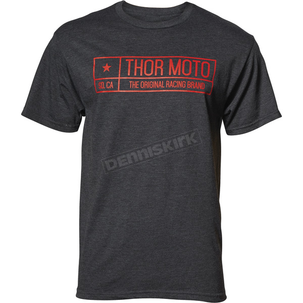 Thor Mens Charcoal Heather Establish Tee Shirt - 3030-16053