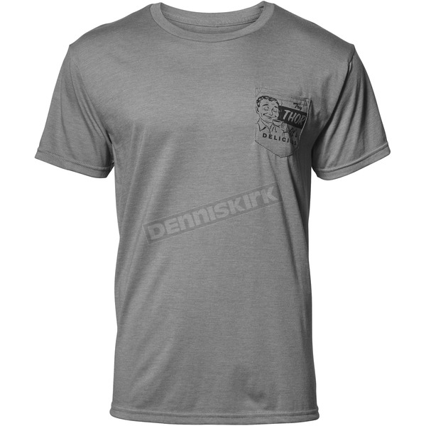 Thor Mens Heather Gray Delicious Pocket Tee Shirt - 3030-16077