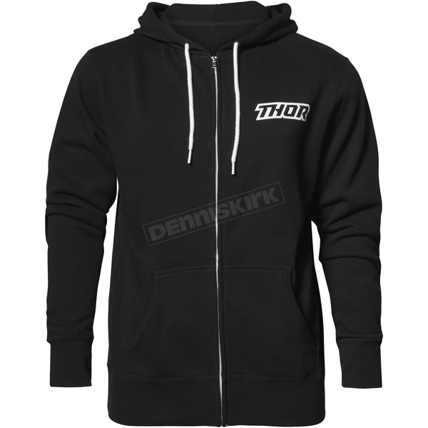 Thor Black Script Zip-Up Hooded Sweatshirt - 3050-4253