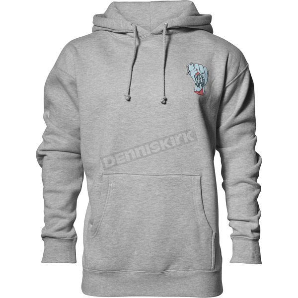 Thor Gray Heather Wide Open Pullover Hooded Sweatshirt - 3050-4291