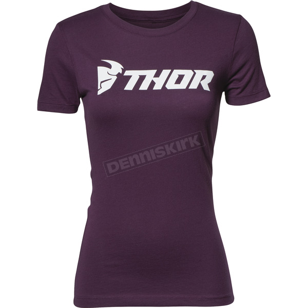Thor Womens Plum Loud Tee Shirt - 3031-3190