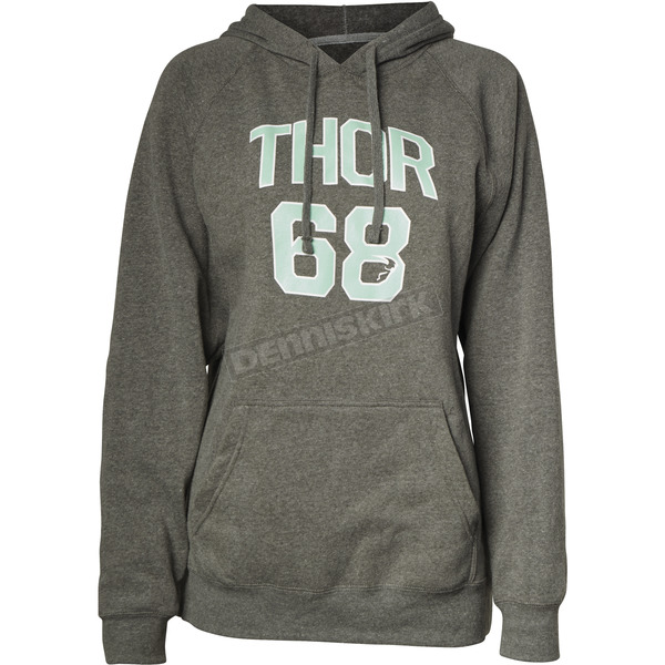 Thor Womens Gray Team Pullover Hooded Sweatshirt - 3051-0996