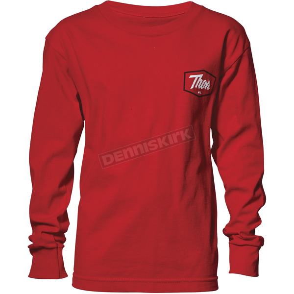 Thor Boys Red Script Long Sleeve T-Shirt - 3032-2594