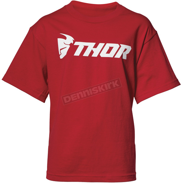 Thor Boys Red Loud Tee Shirt - 3032-2604