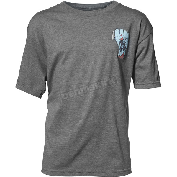 Thor Boys Ash Wide Open Tee Shirt - 3032-2618