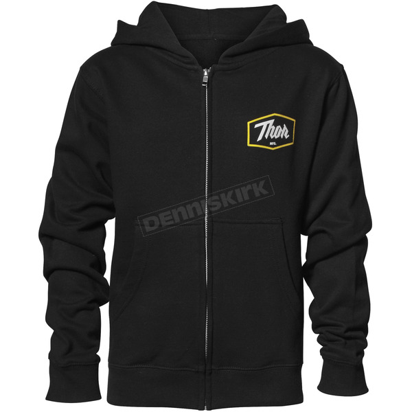 Thor Youth Black Script Zip-Up Sweatshirt - 3052-0418