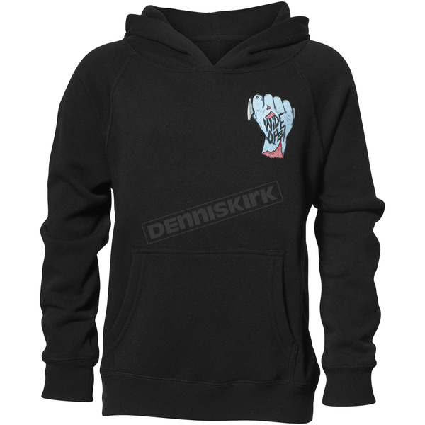 Thor Boys Black Wide Open Pullover Hooded Sweatshirt - 3052-0425