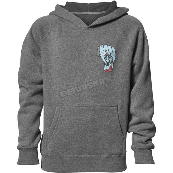 Thor Boys Gray Wide Open Pullover Hooded Sweatshirt - 3052-0431