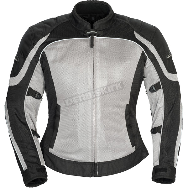 Tour Master Women's Silver/Black Intake Air 4.0 Jacket - 8767-0407-74
