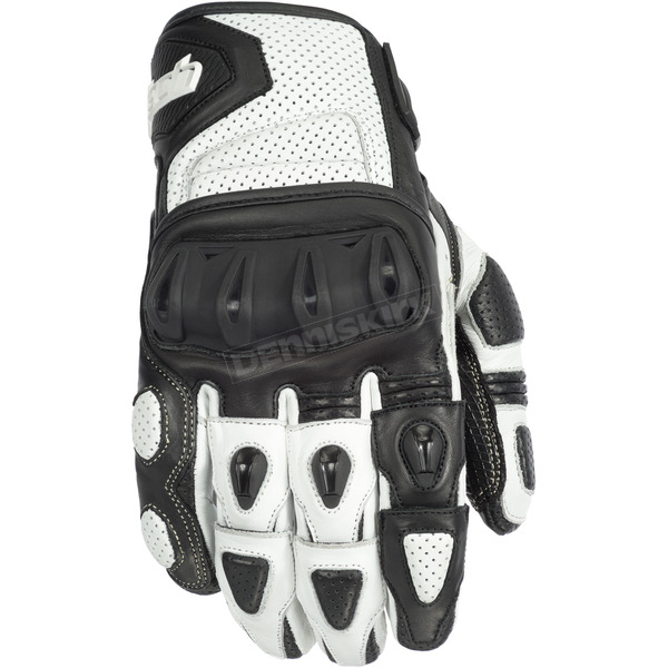 Cortech White/Black Impulse ST Gloves - 8306-0109-05