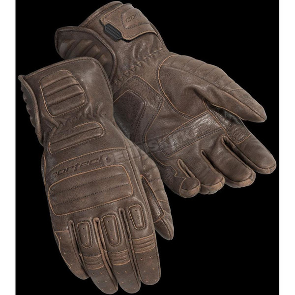 Cortech Cafe Brown Roughneck Gloves - 8337-0140-08