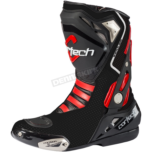 Cortech Black Impulse Air Road Race Boots - 8514-0005-48
