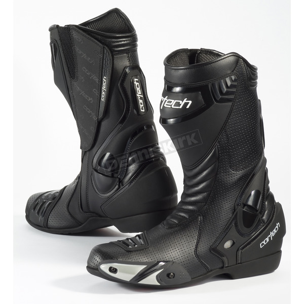 Cortech Black Latigo Air Road Race Boots - 8591-0105-47