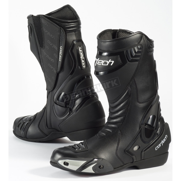 Cortech Black Latigo Waterproof Road Race Boots - 8591-1105-42