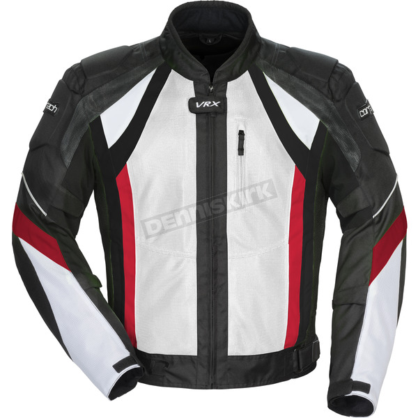 Cortech White/Black/Red VRX Air Jacket - 8951-0101-04