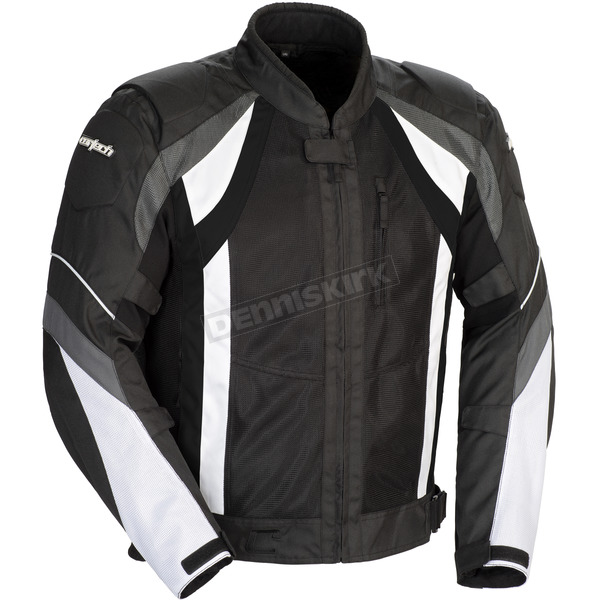 Cortech Black/Gun/White VRX Air Jacket - 8951-0105-09