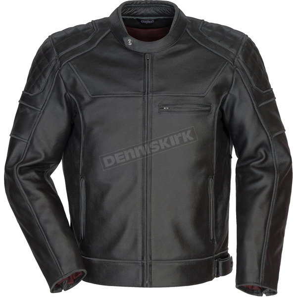 Cortech Black Dino Leather Jacket - 8965-0105-07