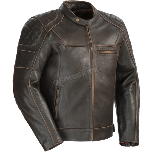 Cortech Vintage Brown Dino Leather Jacket - 8965-0140-09