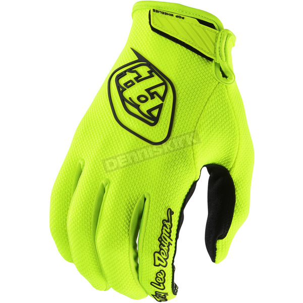 Troy Lee Designs Youth Fluorescent Yellow Air Gloves - 406503502