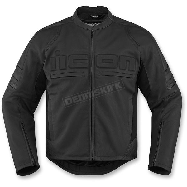 Icon Stealth Motorhead 2 CE-Rated Leather Jacket  - 2810-3264