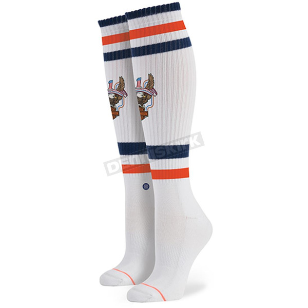 Stance Women's White Harley Davidson Historic Socks - W6000HIS