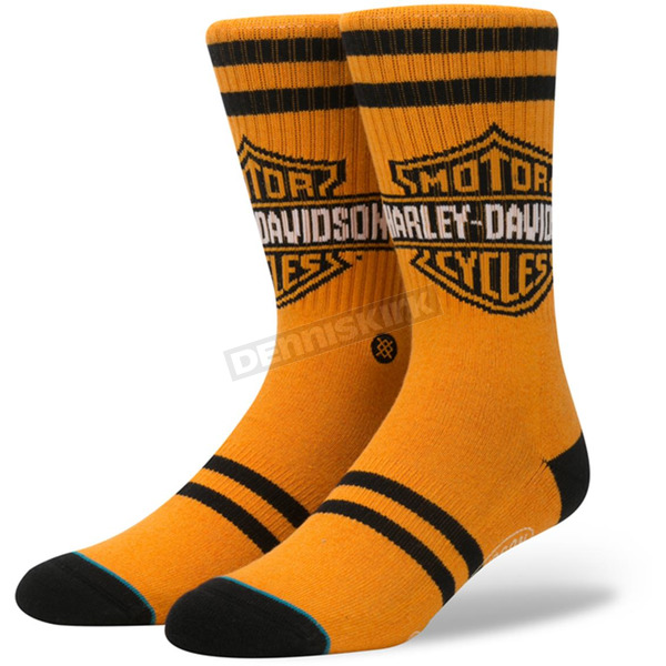 Stance Orange Harley Davidson The Shield Socks - M556D16TSH-LG
