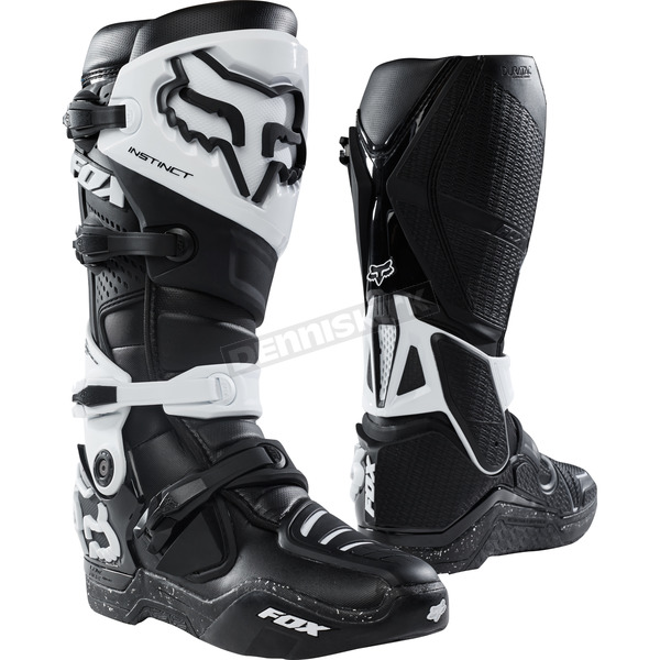 Fox Black/Black Instinct Boots - 12252-021-8